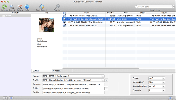 AudioBook Converter Interface