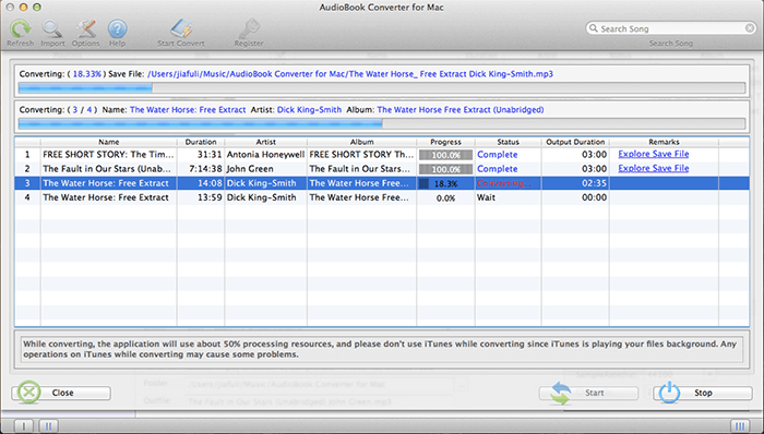 Converting AudioBooks to MP3